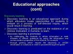 educational approaches cont21