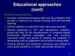 educational approaches cont22