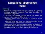 educational approaches cont23