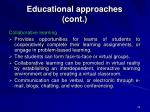 educational approaches cont25