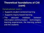 theoretical foundations of cai cont17