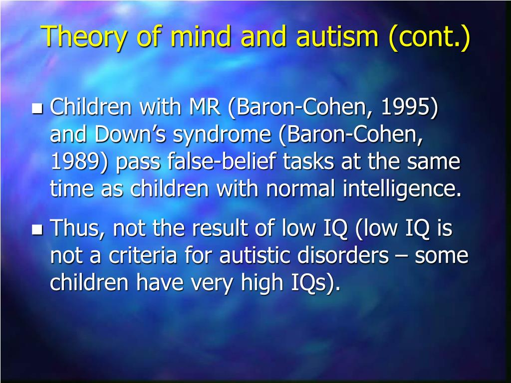 autistic childs failure false belief task Want music and videos with zero ads get youtube red.