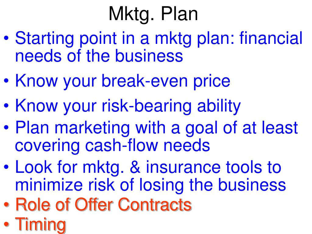 Mktg. Plan