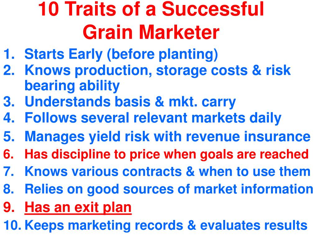 10 Traits of a Successful