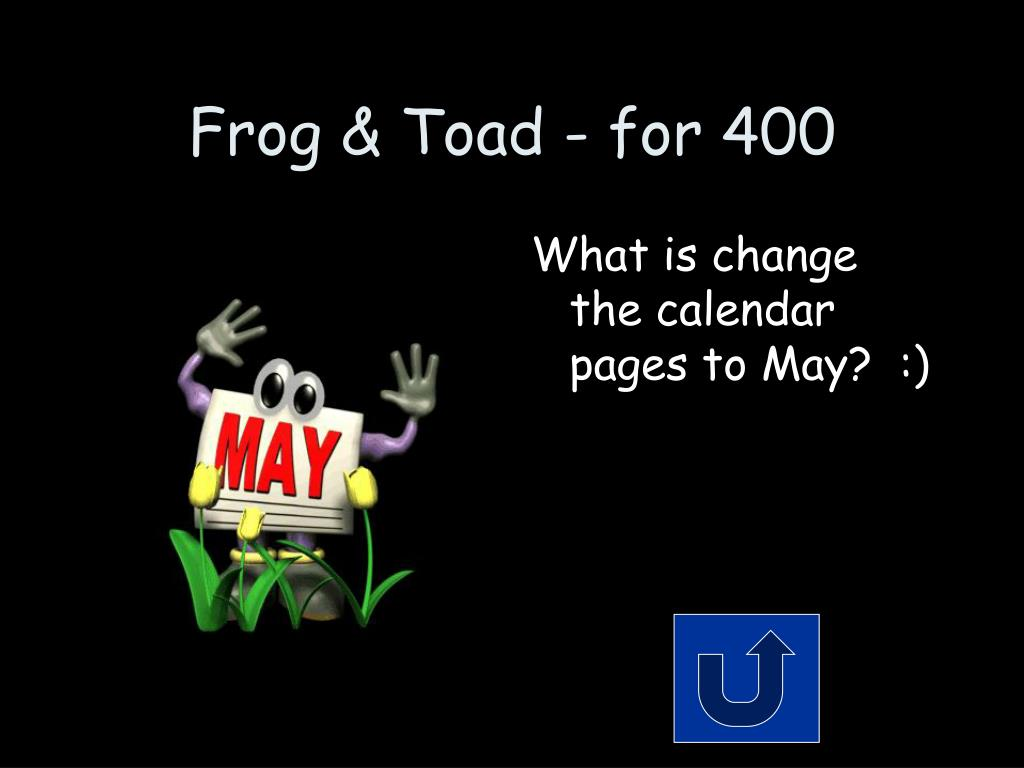 Frog & Toad - for 400