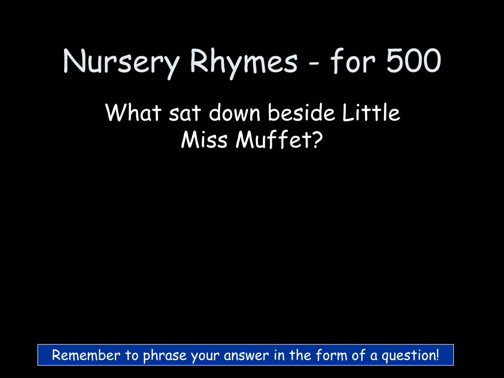 Nursery Rhymes - for 500