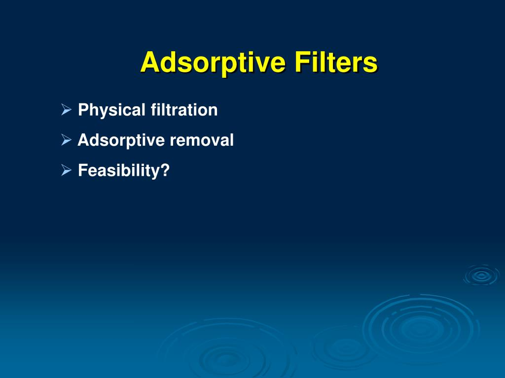 Adsorptive Filters