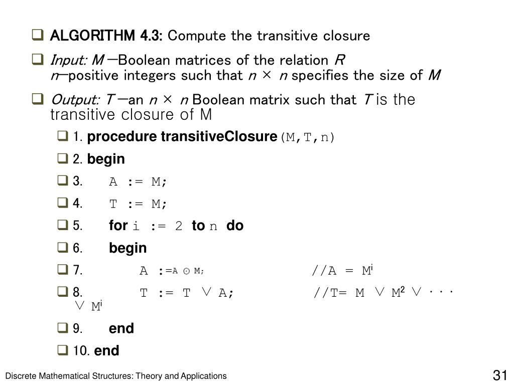 ALGORITHM 4.3: