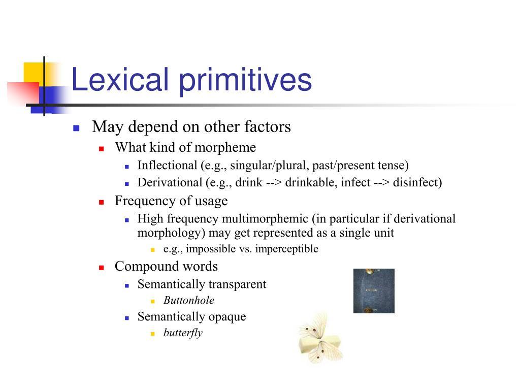 Lexical primitives
