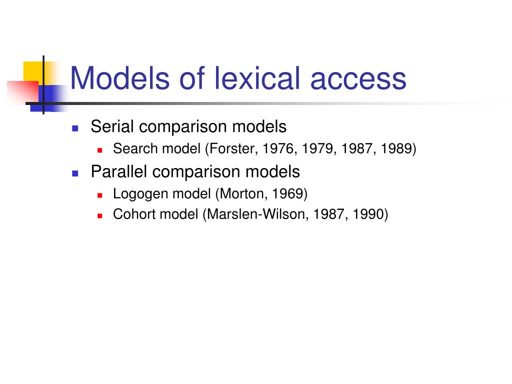Models of lexical access