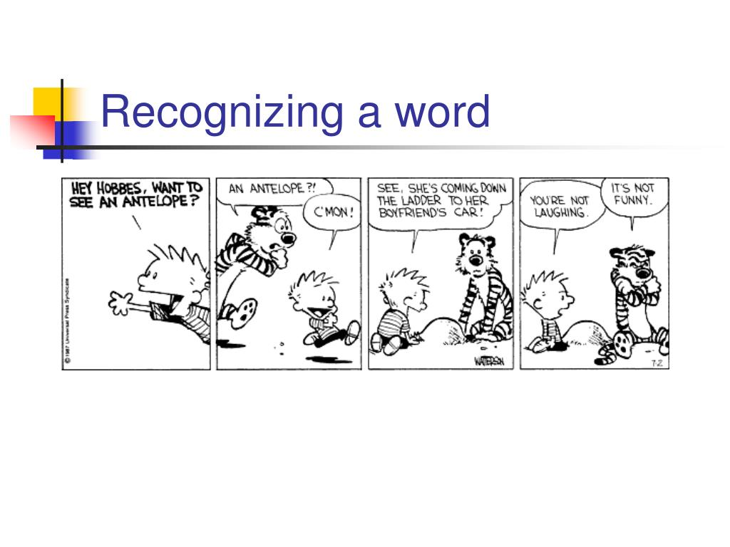 Recognizing a word
