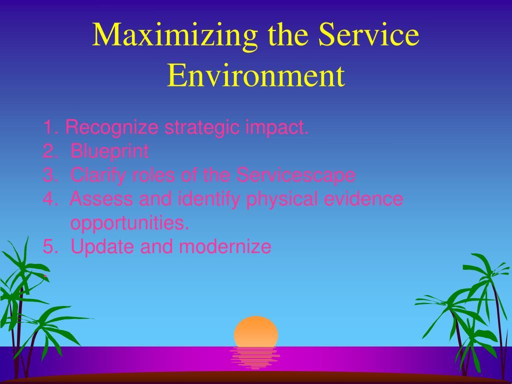 Maximizing the Service Environment