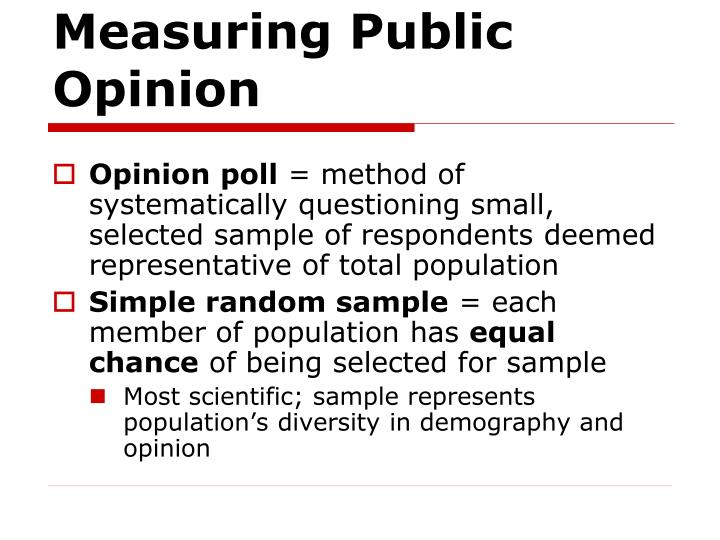 Measuring public opinion