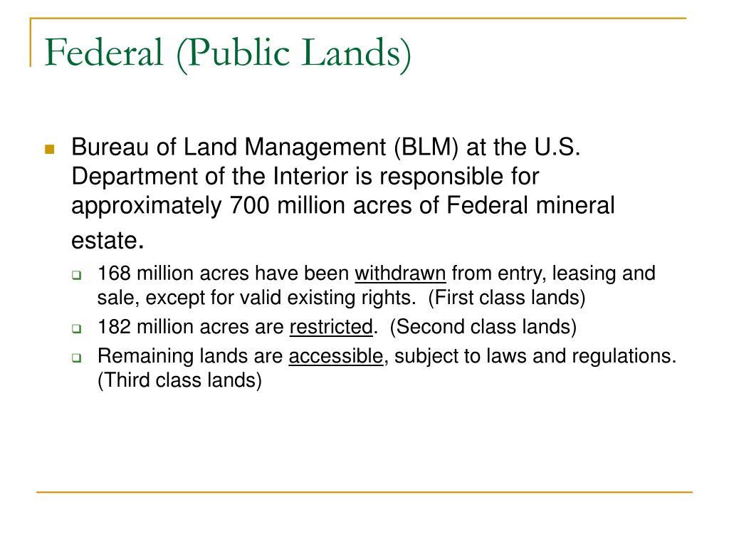 Federal (Public Lands)
