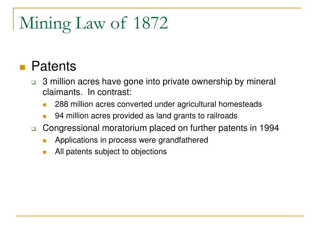 Mining Law of 1872