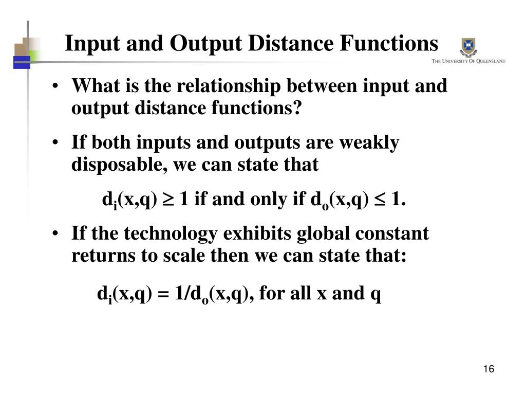 Input and Output Distance Functions