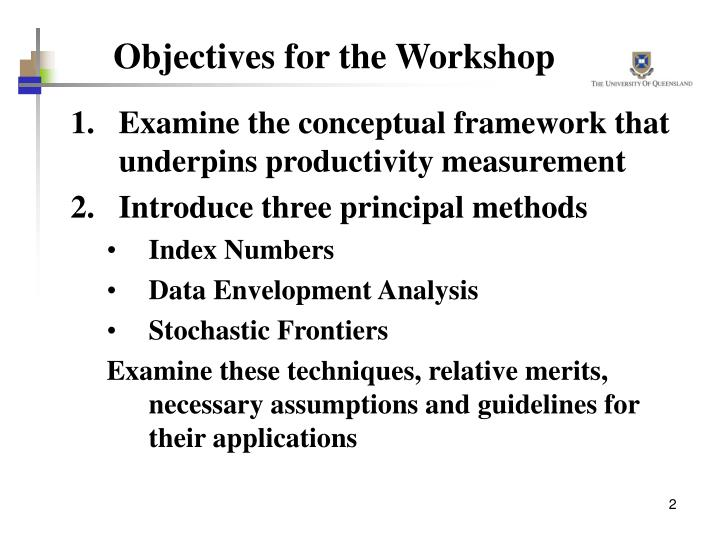 Objectives for the workshop l.jpg