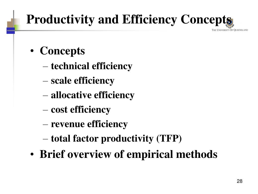 Productivity and Efficiency Concepts