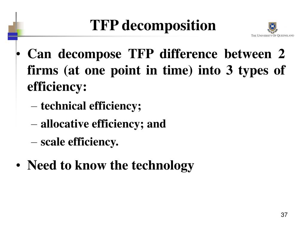 TFP decomposition
