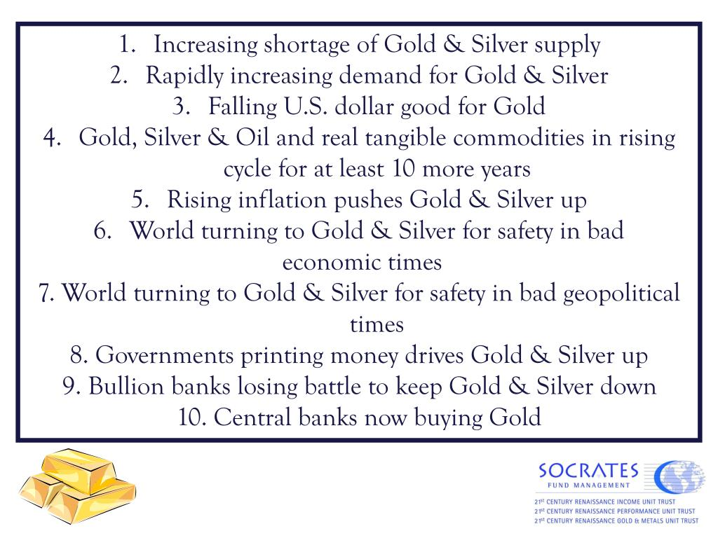 Increasing shortage of Gold & Silver supply