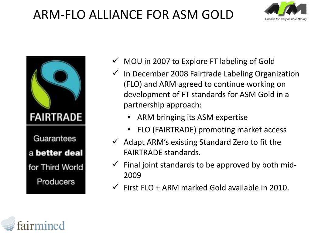ARM-FLO ALLIANCE FOR ASM GOLD