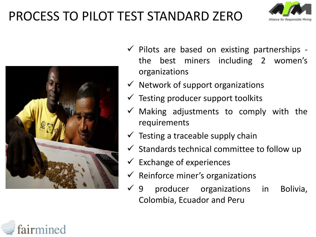 PROCESS TO PILOT TEST STANDARD ZERO