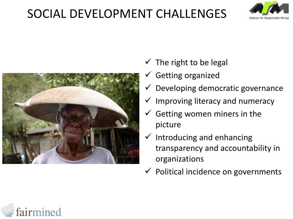 SOCIAL DEVELOPMENT CHALLENGES