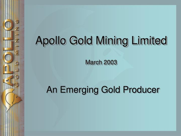 Apollo Gold Mining Limited
