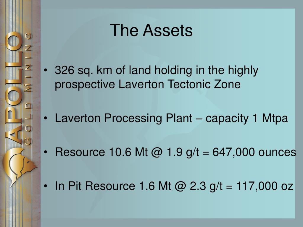 326 sq. km of land holding in the highly prospective Laverton Tectonic Zone