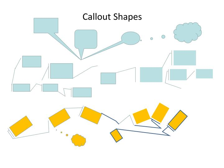 Callout Shapes