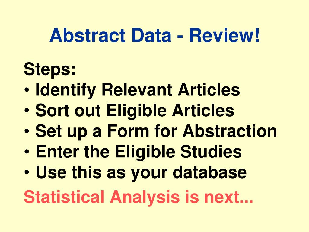 Abstract Data - Review!