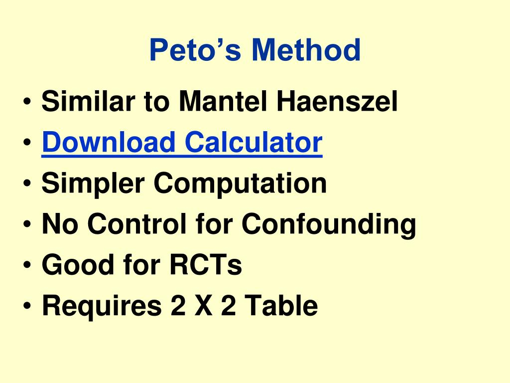 Peto's Method