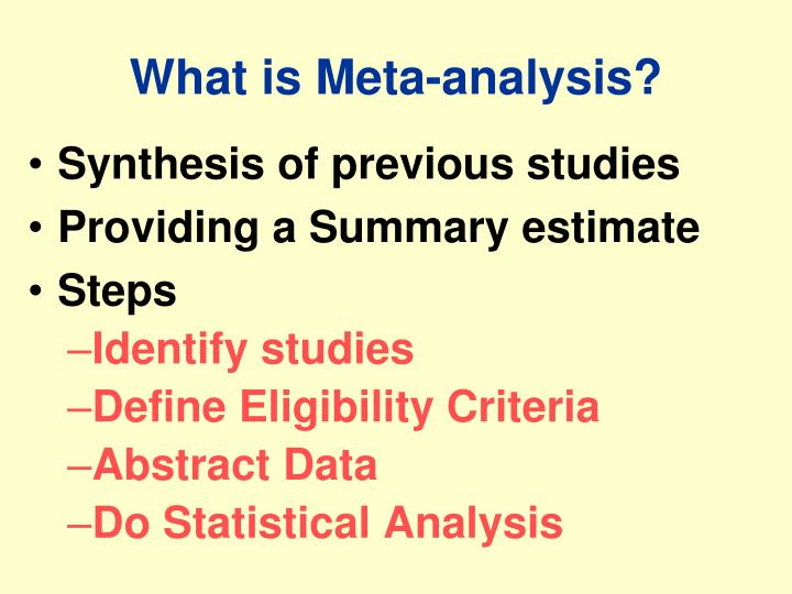 What is meta analysis