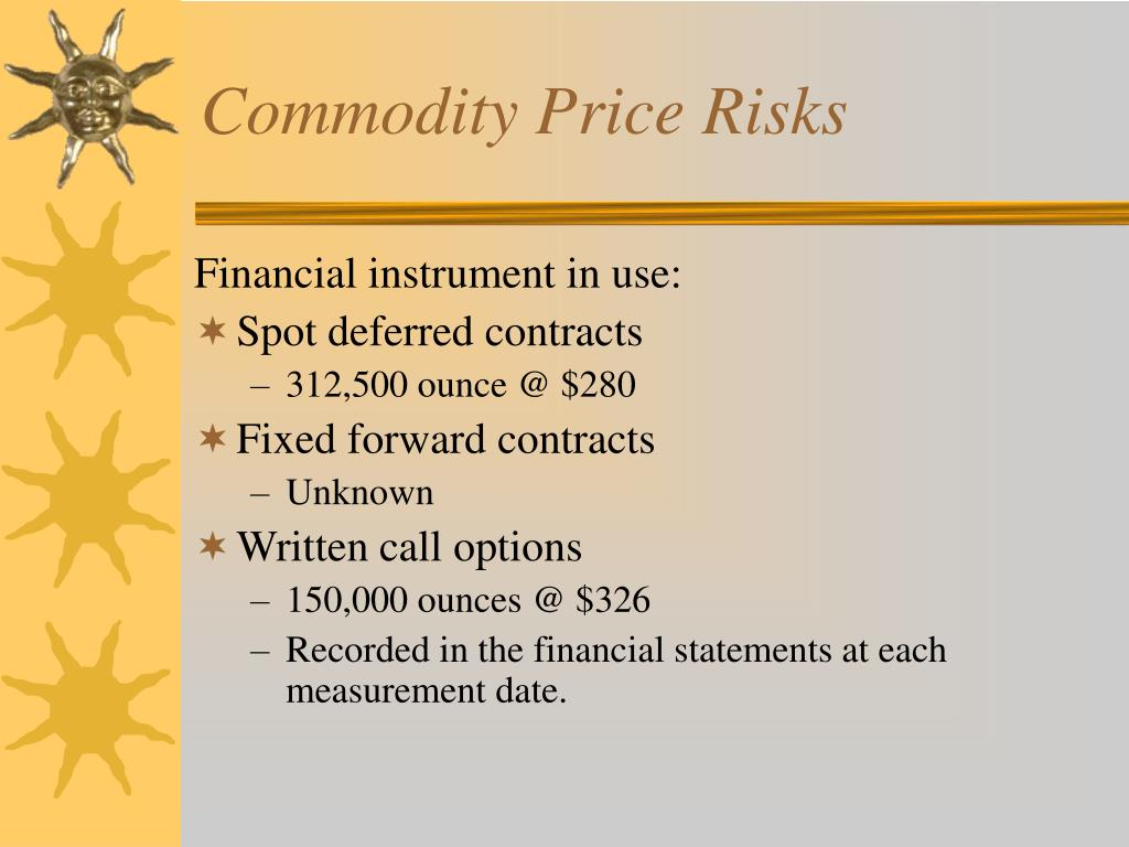 Commodity Price Risks