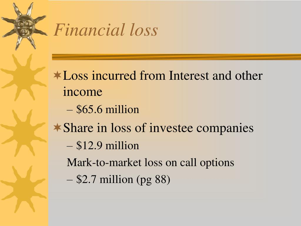 Financial loss