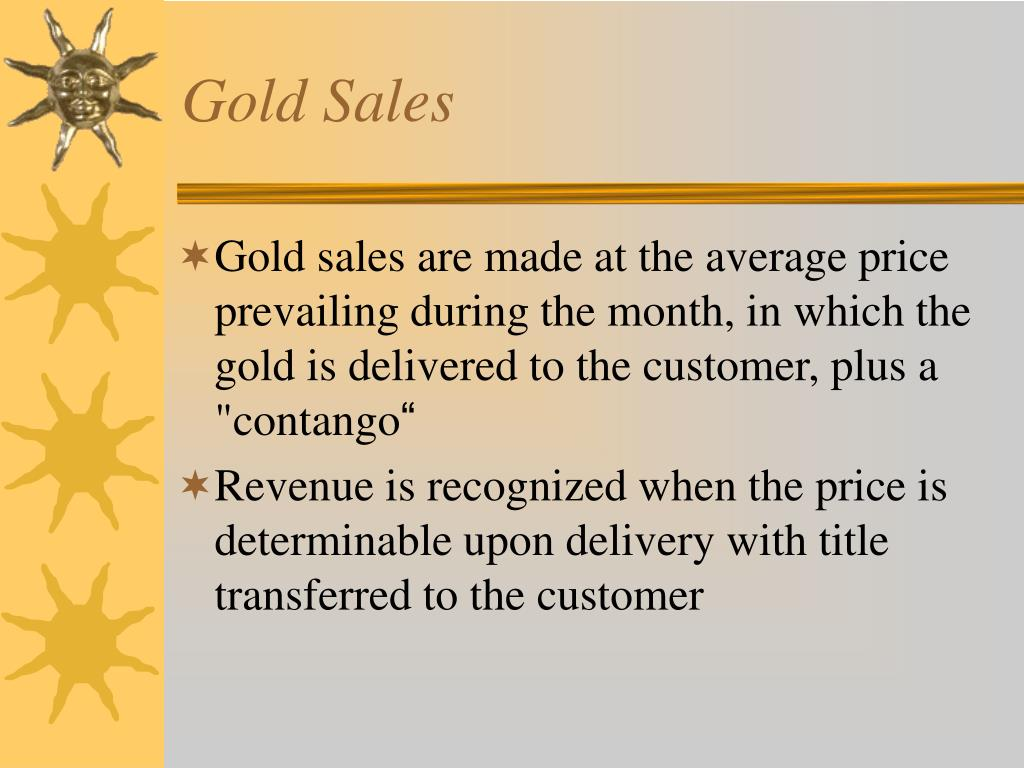 Gold Sales