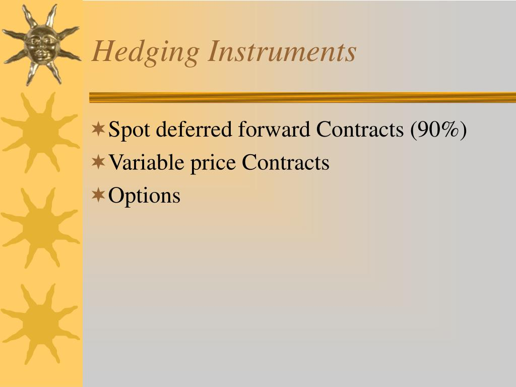 Hedging Instruments