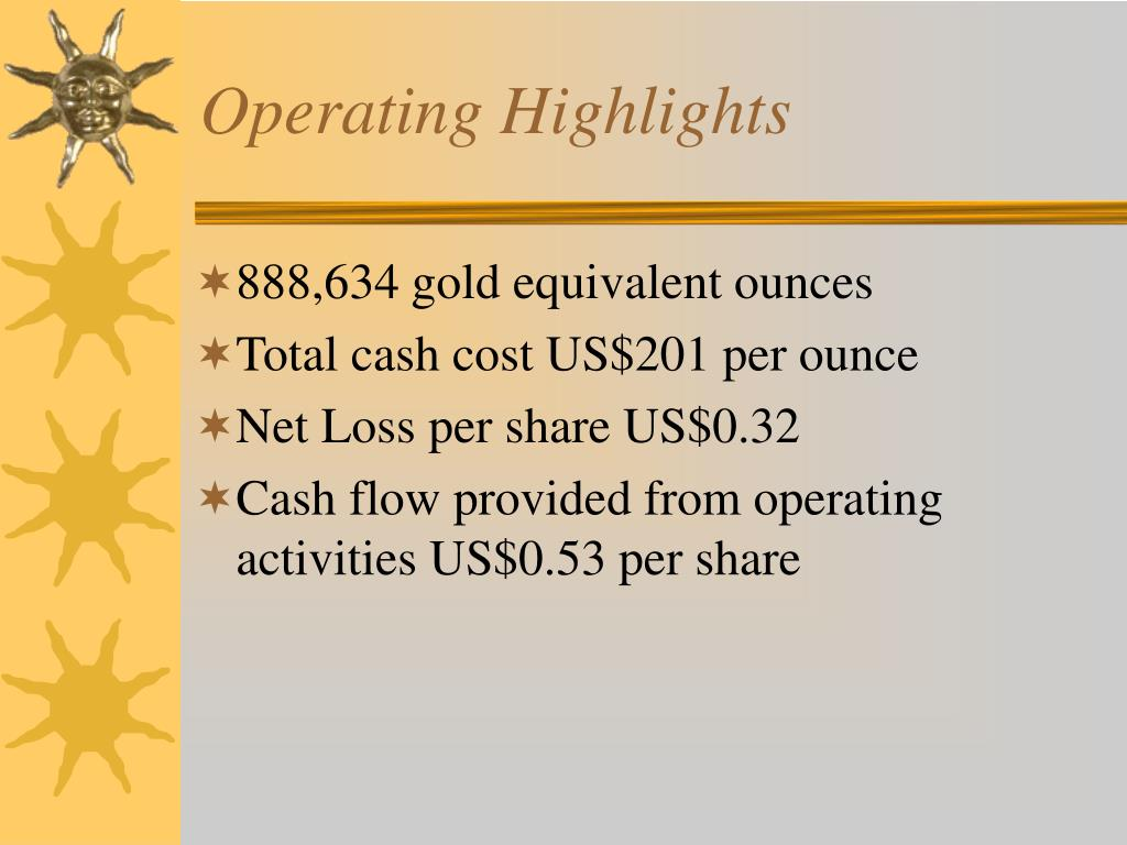 Operating Highlights