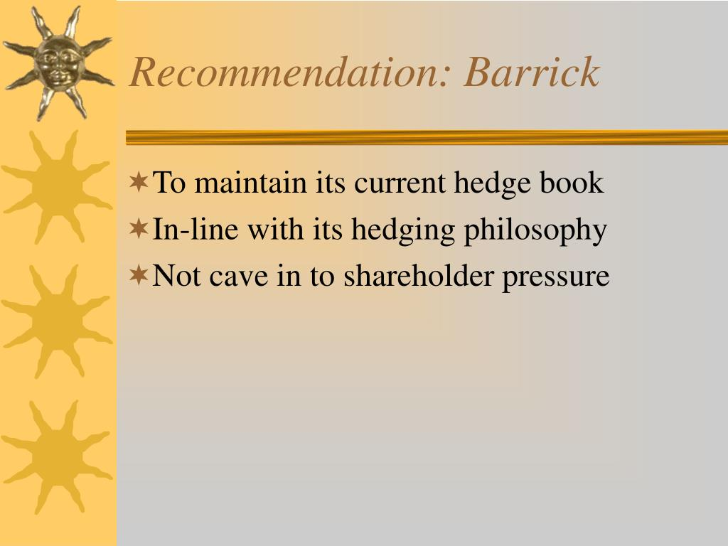 Recommendation: Barrick