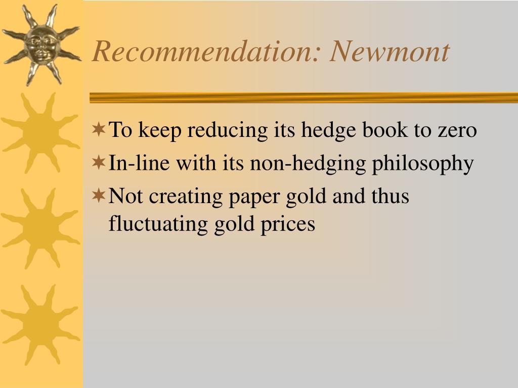 Recommendation: Newmont