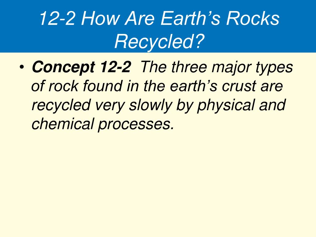 12-2 How Are Earth's Rocks Recycled?