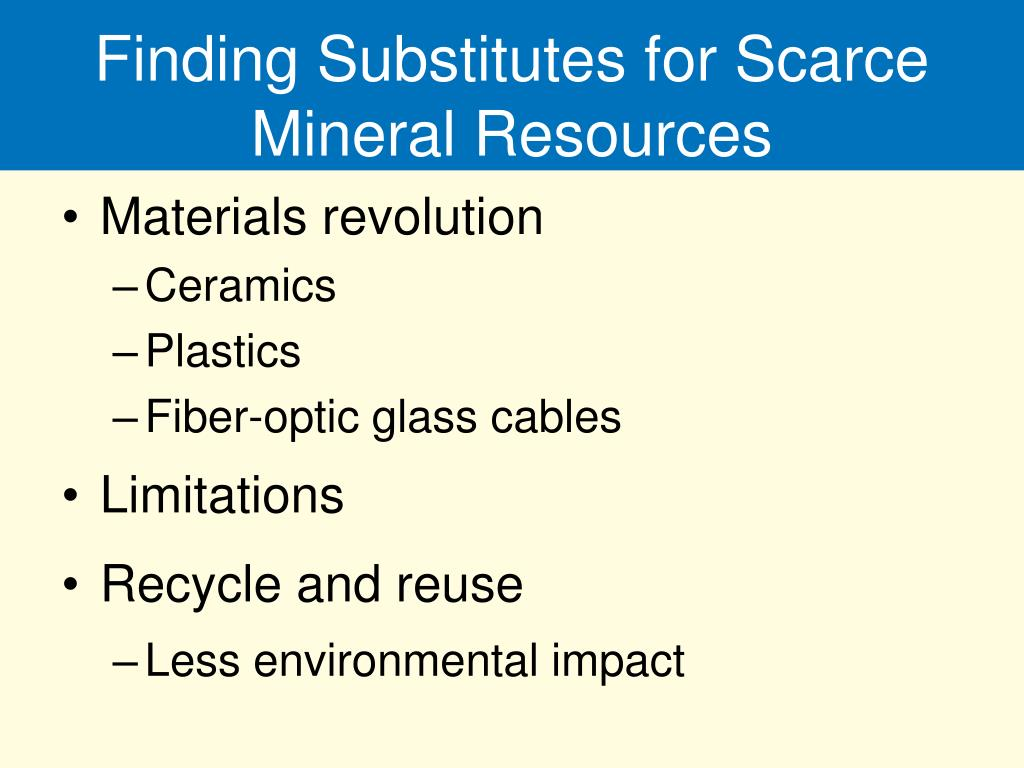 Finding Substitutes for Scarce Mineral Resources