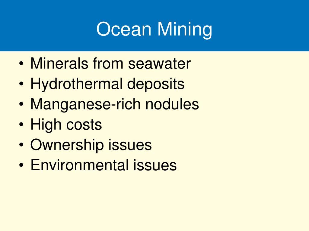 Ocean Mining