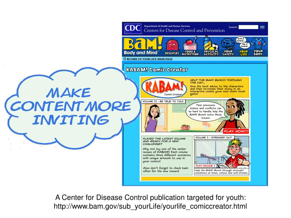 A Center for Disease Control publication targeted for youth: