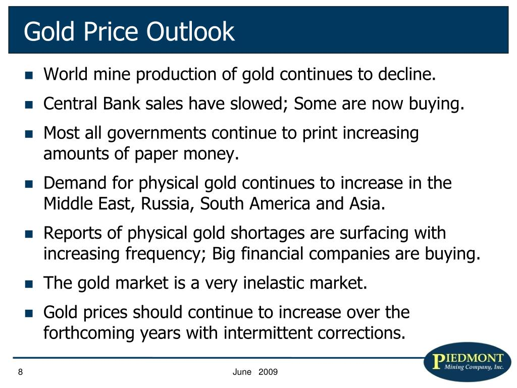 Gold Price Outlook