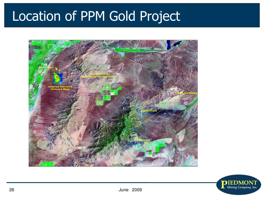 Location of PPM Gold Project
