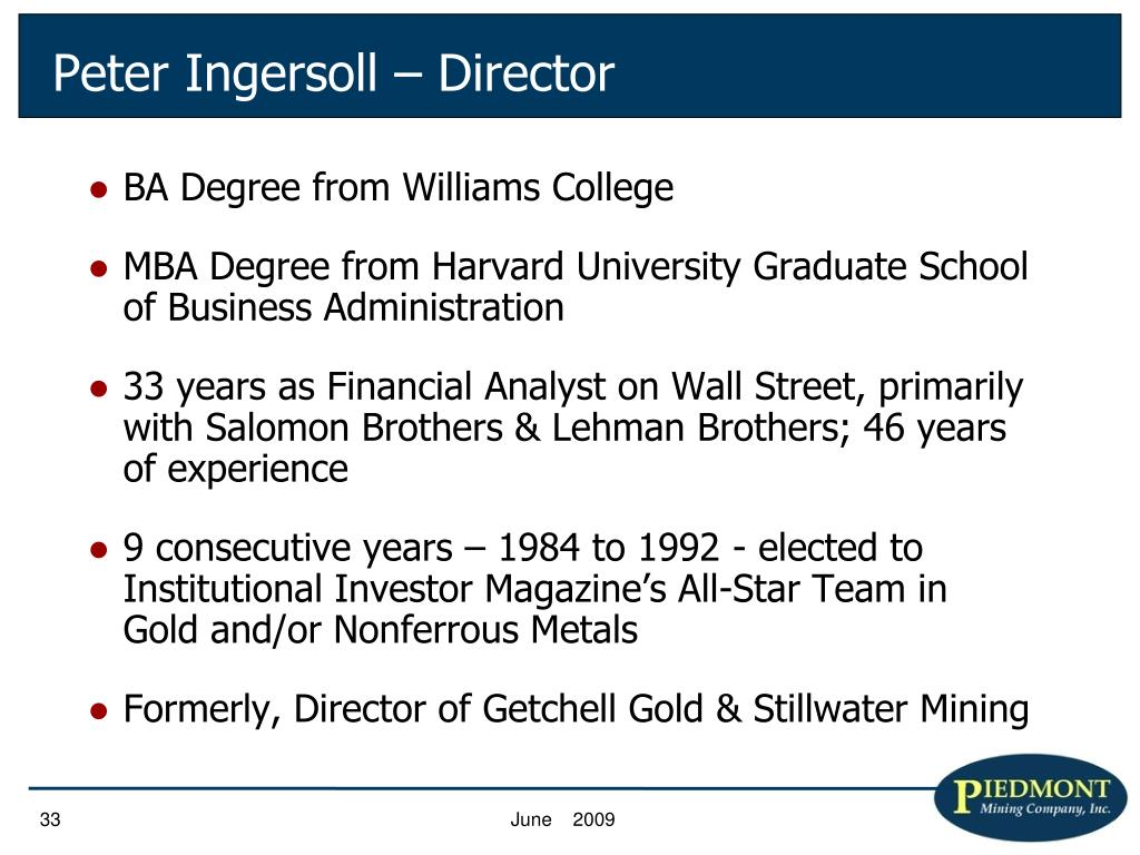 BA Degree from Williams College
