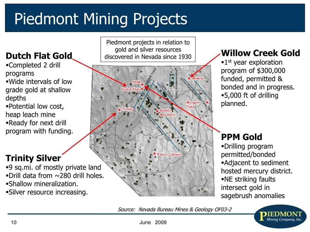 Piedmont Mining Projects