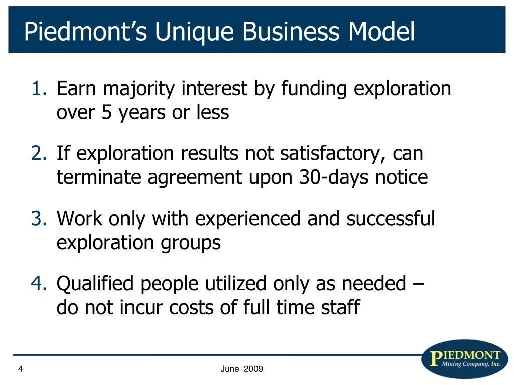 Piedmont's Unique Business Model