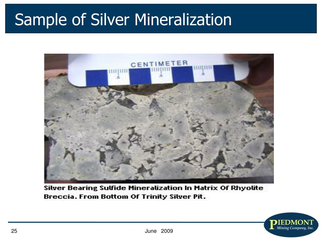 Sample of Silver Mineralization